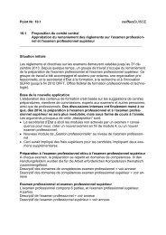 10.1 Proposition du comité central - Coiffure SUISSE