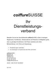 Drucksachen - Coiffure SUISSE