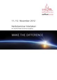 MAKE THE DIFFERENCE - Coiffure SUISSE