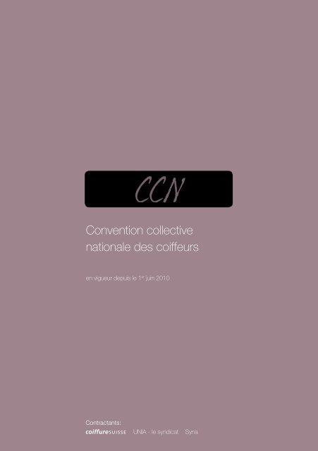Convention collective nationale des coiffeurs - Coiffure SUISSE
