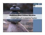 Mindfulness Mindfulness-Based Wellness Education: Based ...