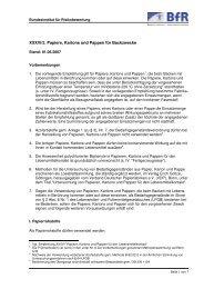 XXXVI/2. Papiere, Kartons und Pappen für Backzwecke