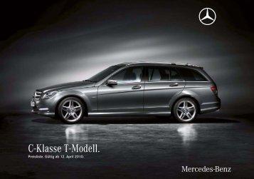 C-Klasse T-Modell. - Preislisten