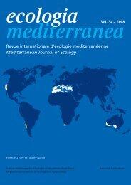 Revue internationale d'écologie méditerranéenne Mediterranean ...
