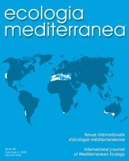 Revue internationale d'écologie méditerranéenne International ...
