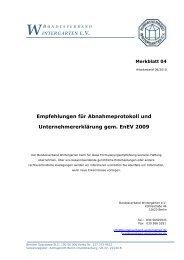 Empfehlungen für Abnahmeprotokoll und Unternehmererklärung ...