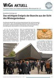 WIGA AKTUELL - Bundesverband Wintergarten eV