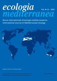 Plantes invasives en région méditerranéenne - Ecologia ...