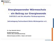 Energiesparender Wärmeschutz - ein Beitrag zur Energiewende
