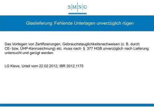 aktuelle Rechtsfragen zum Wintergartenbau - Bundesverband ...