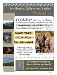 Bob Marshall Wilderness Complex - USDA Forest Service