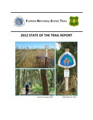 2012 STATE OF THE TRAIL REPORT - USDA Forest Service