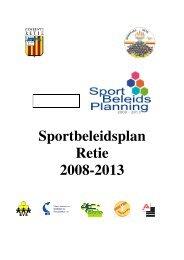 Sportbeleidsplan Retie 2008-2013