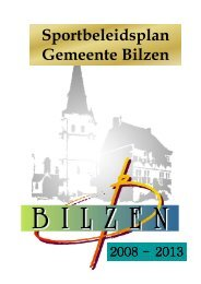 Sportbeleidsplan Bilzen 2008-2013
