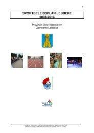 SPORTBELEIDSPLAN LEBBEKE 2008-2013