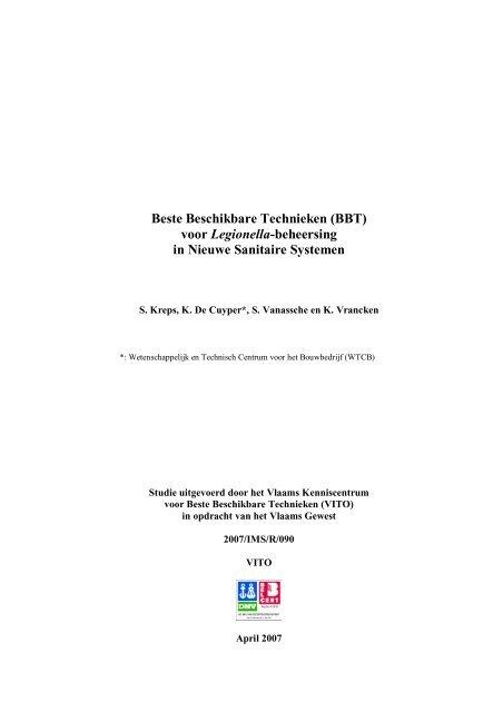 Download de volledige BBT-studie - Vlaams Agentschap Zorg en ...