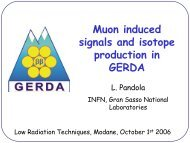 Muon induced signals and isotope production in GERDA