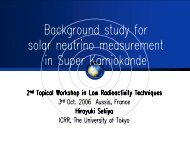 Background study for solar neutrino measurement in ... - LRT2006