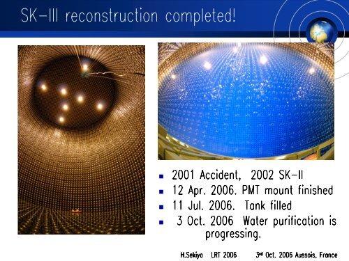 Background study for solar neutrino measurement in ... - LRT2006