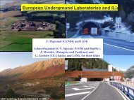 European Underground Laboratories and ILIAS - LRT2006 - IN2P3