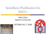 Purification of liquid scintillator for SNO+ - LRT2006