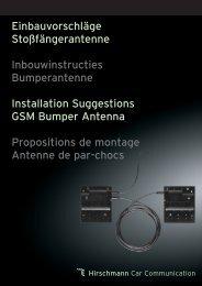 Propositions de montage antennes de pare-chocs - Hirschmann ...