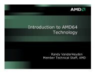 Introduction to AMD64 Technology - Andrei