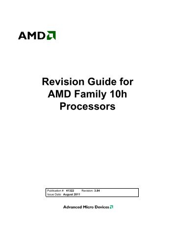 Guide to amd processors