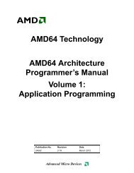 AMD64 Architecture Programmer's Manual, Volume 1: Application ...