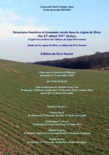 Edition du livre foncier - Bibliothèques de l'Université de Lorraine