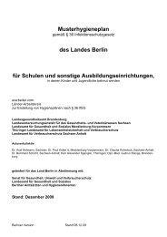 Musterhygieneplan Schulen Berlin 12.09 - Gesunde Schule für ALLE