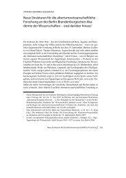 Neue Strukturen für die altertumswissenschaftliche Forschung an ...