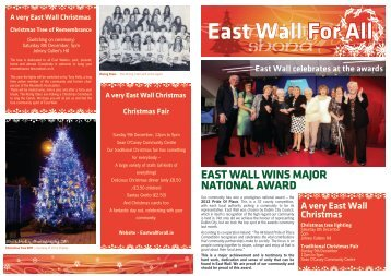 LINK : EAST WALL FOR All XMAS 2012 NEWSLETTER