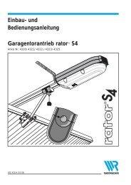 Einbau- und Bedienungsanleitung Garagentorantrieb rator® S4