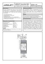 JAROLIFT Trennrelais KN-4 Einbau- und Bedienungsanleitung