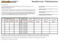 Bestellformular / Rollladenpanzer - Jalousiescout