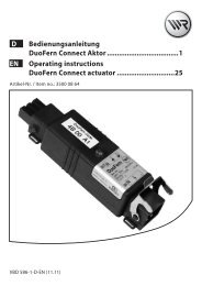 D Bedienungsanleitung DuoFern Connect Aktor ...