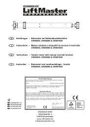 Rohrmotor mit Nothandkurbelfunktion CRXN500, CRXN800 ...