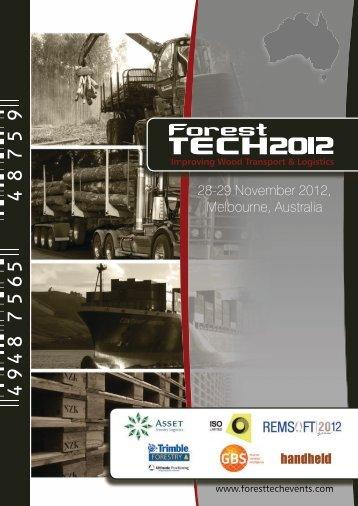 28-29 November 2012, Melbourne, Australia - ForestTECH 2012