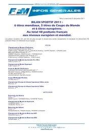 BILAN SPORTIF 2011 : 6 titres mondiaux, 5 titres de ... - Mototribu
