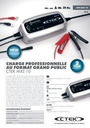 charge professionnelle au format grand public ctek mxs 10 - Mototribu