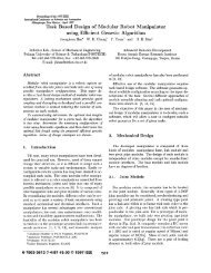 Task Based Design of Modular Robot Manipulator Using ... - MAE