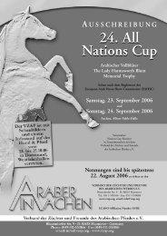 Ausschreibung All Nations Cup (314KB pdf) - Verband der Züchter ...