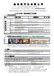 鑫東旅行社有限公司
