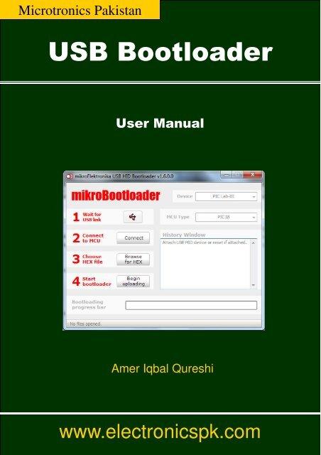 USB Bootloader Manual - Microtronics Pakistan