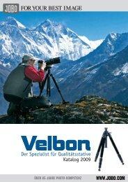 Der Spezialist für Qualitätsstative Katalog 2009 - Jobo