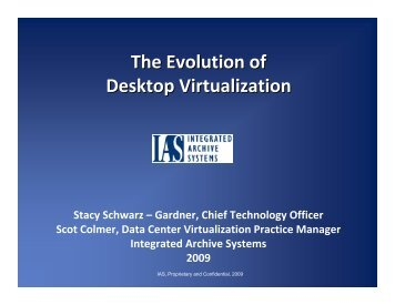 The Evolution of Desktop Virtualization