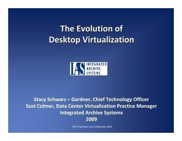The Evolution of Desktop Virtualization