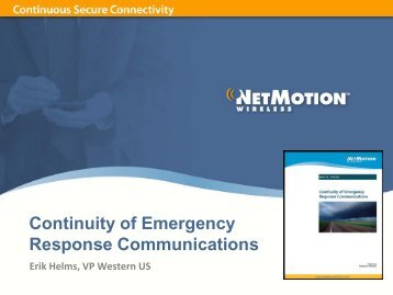Continuity of Emergency Response Communications