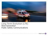 Long Term Evolution (LTE) Next-Generation Public Safety ...
